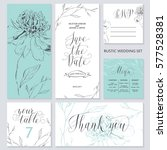 template rustic wedding... | Shutterstock .eps vector #577528381