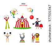 circus concept. stunning... | Shutterstock .eps vector #577531567