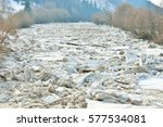 Ice Floes On A River That...