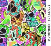 seamless pattern. mexican... | Shutterstock .eps vector #577537171