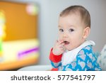 baby watching cartoons on tv  6 ... | Shutterstock . vector #577541797