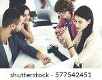 crew of talented freelancers...   Shutterstock . vector #577542451
