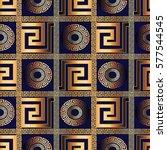 antique geometric gold 3d check ... | Shutterstock .eps vector #577544545