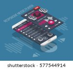 responsive music player... | Shutterstock .eps vector #577544914