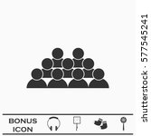 crowd of people icon flat.... | Shutterstock .eps vector #577545241
