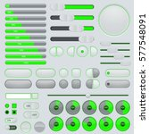set of user interface buttons... | Shutterstock . vector #577548091