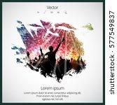 dancing people | Shutterstock .eps vector #577549837