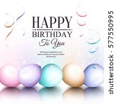happy birthday greeting card.... | Shutterstock .eps vector #577550995