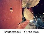 Welder Man Working In Ship Yard ...