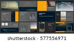 presentation templates. use in... | Shutterstock .eps vector #577556971