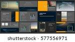 original dark presentation... | Shutterstock .eps vector #577556971