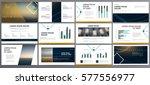 original presentation templates ... | Shutterstock .eps vector #577556977