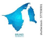 brunei map   blue geometric... | Shutterstock .eps vector #577558501