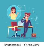 confident businessman standing... | Shutterstock .eps vector #577562899