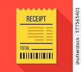vector receipt. modern flat... | Shutterstock .eps vector #577565401