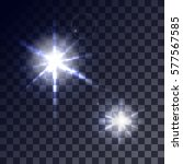 set of glowing light effects...   Shutterstock .eps vector #577567585