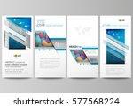flyers set  modern banners.... | Shutterstock .eps vector #577568224