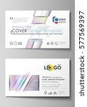 business card templates. easy... | Shutterstock .eps vector #577569397