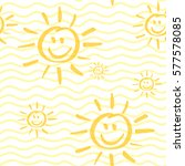 seamless pattern with smiling... | Shutterstock .eps vector #577578085