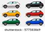 realistic cars isolated on a... | Shutterstock .eps vector #577583869