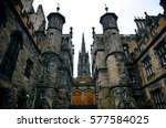 the university of edinburgh... | Shutterstock . vector #577584025