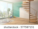 repair and painting of walls in ... | Shutterstock . vector #577587151