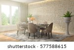 interior dining area. 3d... | Shutterstock . vector #577588615