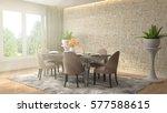 interior dining area. 3d... | Shutterstock . vector #577588615