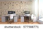 office interior. 3d illustration | Shutterstock . vector #577588771