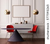 mockup poster in art deco style ... | Shutterstock . vector #577593265