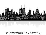 big city skyline with tall... | Shutterstock .eps vector #57759949