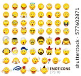 big emoticon set isolated on... | Shutterstock .eps vector #577602871