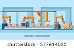 industrial packing system... | Shutterstock .eps vector #577614025