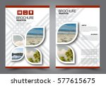flyer design. business brochure ... | Shutterstock .eps vector #577615675