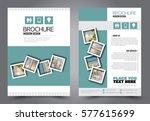 flyer design. business brochure ... | Shutterstock .eps vector #577615699