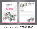 flyer design. business brochure ... | Shutterstock .eps vector #577615765