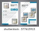 flyer design. business brochure ... | Shutterstock .eps vector #577615915