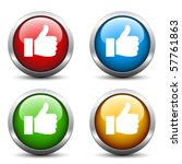 vector thumb up buttons | Shutterstock .eps vector #57761863