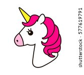 unicorn vector icon isolated on ... | Shutterstock .eps vector #577619791
