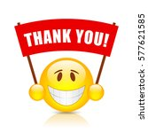 thank you sign isolated on... | Shutterstock .eps vector #577621585