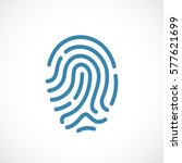 finger print vector icon... | Shutterstock .eps vector #577621699