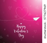 valentine's card with copy... | Shutterstock .eps vector #577627969