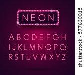 Glowing Neon Alphabet. Font...