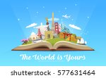 travel to world. road trip.... | Shutterstock .eps vector #577631464