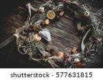 Creative Christmas Wreath. An...