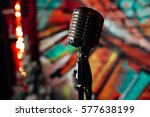 microphone. retro microphone. a ... | Shutterstock . vector #577638199