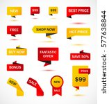 vector stickers  price tag ... | Shutterstock .eps vector #577638844