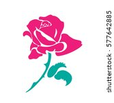 Stylized Image Of A Rose Flowe...