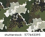 camouflage seamless pattern in... | Shutterstock .eps vector #577643395