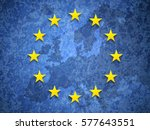european union flag grange | Shutterstock .eps vector #577643551